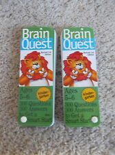 Brain Quest Kindergarten Ages 5-6 Deck One & Deck Two