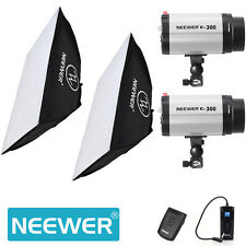 Neewer (300W X 2) 5600K Photography Studio Flash Strobe Light Lighting Kit