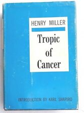 TROPIC OF CANCER by Henry Miller 1961 GROVE PRESS 3rd Printing BOOK