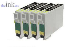 4 X COMPATIBLE BLACK INK CARTRIDGES REPLACE EPSON T1291