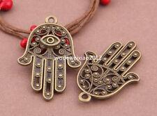 5pc Antique Bronze hand Pendant Charms Bead Accessories wholesale PL305