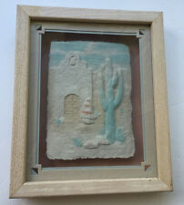 FIGI Graphics Southwest Navajo Pueblo Priscilla 3D Wet Cast Paper Art Signed Fr.
