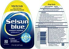 Selsun Blue Dandruff Shampoo for Itchy, Dry Scalp - 7 oz