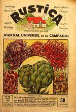 Rustica n°18- 1936 - Les Chrysanthèmes - La Race Bovine Hollandaise - Potirons