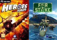 Héroes sobre Europa & Fair Strike Nuevo y Sellado