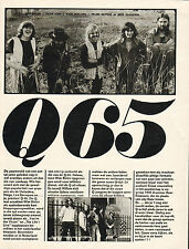 Q-65 - PHOTO'S + ARTICLES DUTCH MUSIC MAGAZINES 1970 + 1972