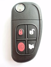 Replacement 4 button flip key case for Jaguar S X Type XJ XJ6 XJ8 XJR remote
