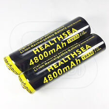 2 x LITHIUM ION PILE 3,7 V 4800 mAh Type 18650 Li - ion 65 x 18 mm BATTERIE ACCU