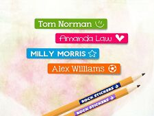 50 x Personalised Name Cute Kids Stickers Labels Stick On - School & Stationary