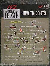 American Home 192  How To Do It's  Vintage Designs & Plans
