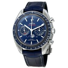 New Omega Speedmaster Moonphase Blue Dial 44mm Mens Watch 304.33.44.52.03.001
