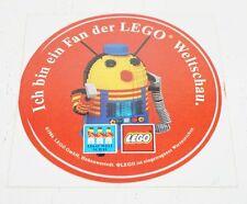 LEGO WELTSCHAU - Ich bin ein Fan  - Aufkleber aus den 80er Jahren