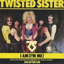 "TWISTED SISTER I Am I'm Me 1983 UK 7"" vinyl Single EXCELLENT CONDITION"