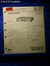 Sony Service Manual TC S7 Cassette Deck  (#2635)