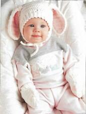 *Baby's Bunny Hat & Mittens crochet PATTERN INSTRUCTIONS