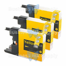 3 YELLOW LC71 LC75 NON-OEM Ink for BROTHER MFC-J430W LC-71 LC-75 LC71Y LC75Y