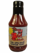 BACON BBQ SAUCE - SWEET HONEY APPLE BACON BARBECUE SAUCE WITH REAL BACON 16 OZ