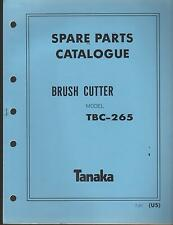 1988 & EARLIER TANAKA BRUSH CUTTER MODEL TBC-265 PARTS MANUAL