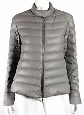 ARMANI COLLEZIONI Steel Gray Quilted Zip-Front Puffer Jacket 14