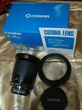 28-105mm F2.8-3.8 COMPACT COSINA MACRO MD ZOOM LENS MINOLTA MANUAL FOCUS CAMERAS