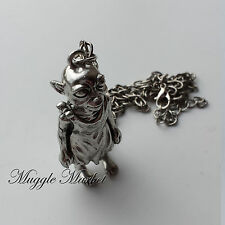 Hogwarts Harry Dobby silver  pendant.witchgoblin/magical/necklace/Ron/house elf