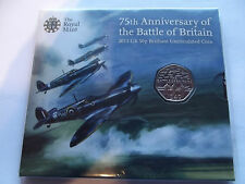 R/M 2015 B/U  50p Coin P/Pack 75th Anniversary of the Battle of Britain