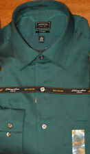 Men's Arrow Long Sleeve Classic Fit Button Front Dress Shirt Green Blue Purple