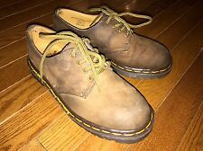 DOC DR MARTENS AW 004 Crazy Horse Brown Leather Padded Collar Oxford Shoes Men 5