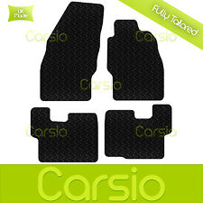 Black Fully Tailored Rubber Car Floor Mats For Vauxhall Corsa D 2007 - Onwards