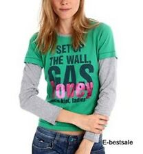 Maglia Gas T-shirt 100% Originale Manica lunga Honey