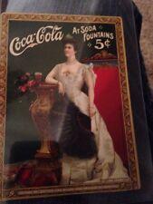 ORIGINAL 1905 COCA-COLA CHROMOLITHOGRAPH LILLIAN NORDICA SODA FOUNTAIN COUPON