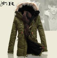 New Men's Cotton coat fleece Trench Parka outwear Winter Slim wool Warm Jacket