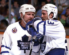 Wendel Clark and Doug Gilmour - Maple Leafs 8x10 color photo