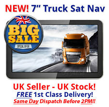 NEWEST 2016 model 7 inch HD truck/hgv sat nav GPS UK stock UK and EURO 2016 maps
