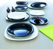 Luminarc servizio piatti per 12 persone 36 pezzi  modello Carine bianco nero