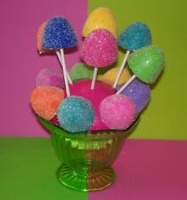 6 FAKE GUMDROPS LOLLIPOPS, CANDY LAND BIRTHDAY PARTY DECORATIONS, PHOTO PROPS