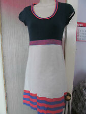 boden size 6 pretty white and blue linen dress