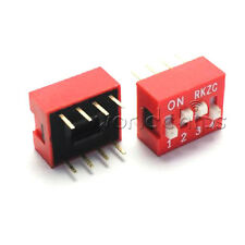 10pcs Red 2.54mm Pitch 4 PositionWay 4-Bit Slide Type DIP Switch Module