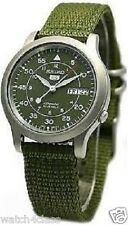 NEW SEIKO 5 SNK805K2 AUTOMATIC military WATCH (CAL.7S26C) Green face nylon strap