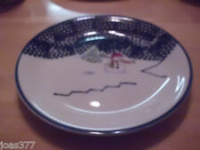"Thomson Christmas Snowman Stoneware Pottery China 10"" Dinner Plate"