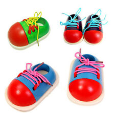 How to tie shoes Lacing Shoe Early Special Needs Educational Wooden Toy EWUK
