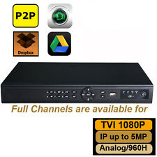 1080P 2MP  HD-TVI DVR 8Ch Tribrid support Analog/1080P TVI/ IP Camera Up to 5MP