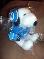 Snoopy Headphone Cell Phone I can do this Metlife Fleece Peanut Dog plush in Bag