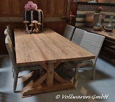 """TEAK GARTENTISCH """"BRONN"""" 220x100 Teakholz antik massiv Tisch Tafel Gartenmöbel"""