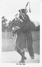 BR64327 the pipe major real photo military types folklore costumes scotland