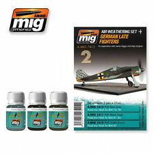 Ammo Of MIG A.MIG-7415 - Panel Line Wash Set-German Late Fighters
