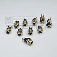 10 pz spina da pannello DC 2,5 mm Connettore alimentazione coassiale - ART. BE16