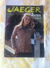 Vintage Jaeger 4298 Sheridan 4ply crepe knitting pattern ladies cardigan