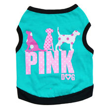 Pet Vest T Shirt Puppy Dog Cat Clothes Apparel Chihuahua PINK DOG Costume Medium