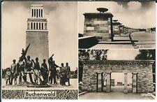 Ansichtskarte Buchenwald Eingangstor, Straße der Nationen, Turm, Gruppenplastik